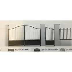 Portail Acier Coulissant Modèle LOIRET  largeur 3060 mm