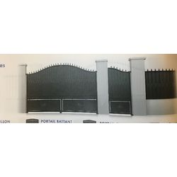 Portail Acier Battant Modèle ARDENNES  largeur 3000 mm