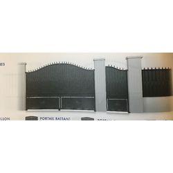Portail Acier Coulissant Modèle ARDENNES  largeur 3060 mm