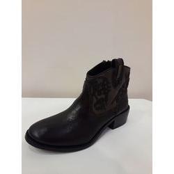 Boots santiags en cuir Marron