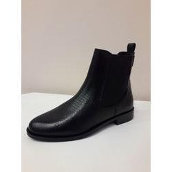 Boots en cuir noir lézard