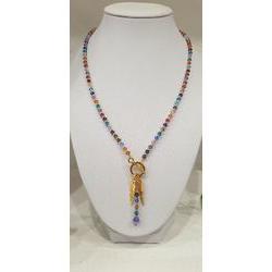 Collier multicolore en perles Swarovski.