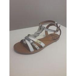 Nu-pieds en cuirs blanc