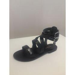 Sandale en cuir Noir