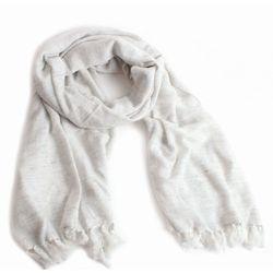 Echarpe 100% laine tissée main gris