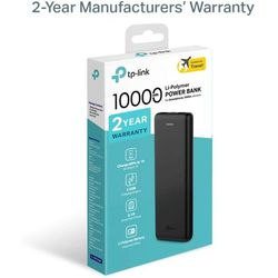 TP-Link TL-PB10000 Batterie Externe 10000mAh Haute Capacité Power Bank [Garantie 24 Mois] Portable Chargeur 2 Ports USB Batterie de Secours Compatible avec tous les Smartphones et Tablettes