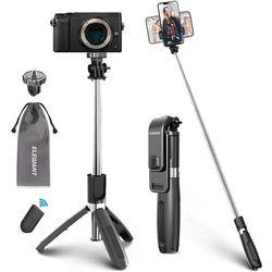 ELEGIANT Perche Selfie, Selfie Stick Bluetooth Trépied Bluetooth Bâton de Selfie Monopode Réglable Télescopique 4 en 1 Extensible 360° Rotation pour Téléphone, Caméra, Sport Caméra