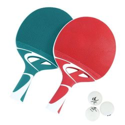 PACK 2 raquettes + balles ping pong