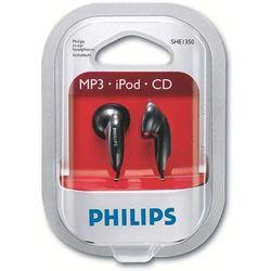 Philips Audio Écouteurs intra-auriculaires SHE1350/00 Écouteurs intra-auriculaires (son puissant, évents pour renforcement des basses, câble de 1 m, ouvert) Noir SHE1350/00 Standard