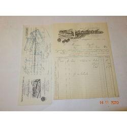ABSINTHE FACTURE ET TRAITE BROQUIS DISTILLERIE DU GRANDS LEMPS 1907