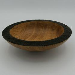 Coupe à fruits en bois - 18 cm