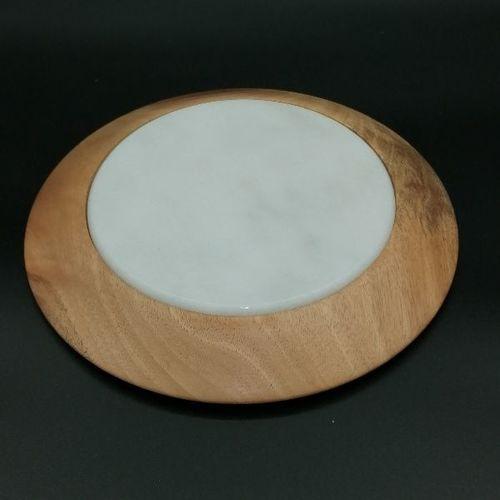 Dessous de plat en bois et pierre