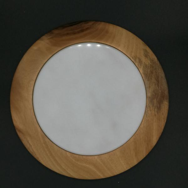 Dessous de plat en bois et pierre - image 1