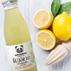 Elixir BIO Citronnade, Pêche et Romarin 75 cl - Columbus Café