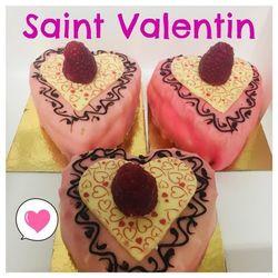 Gâteau individuel saint valentin