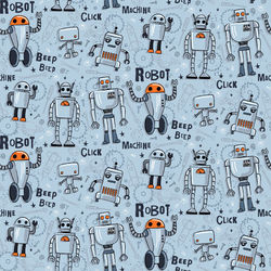 Tissu jersey ROBOT