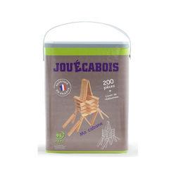 Jouécabois - Jeu de construction en bois - 200 pièces