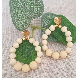 Boucles clips créoles en perles.