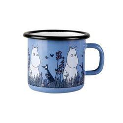 Tasse décorée en fer émaillé - Moomin