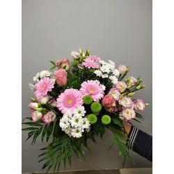Bouquets tons roses et blancs