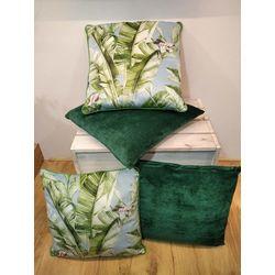 Coussins velours vert ou tropical