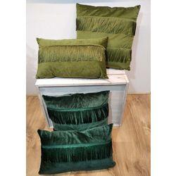 Coussins à franges vertes