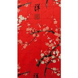 Tissu coton Alexander Henry Fabric Indochine rouge (x10cm)