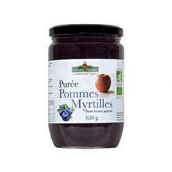 Purée de pommes myrtilles- Coteaux Nantais - 630g