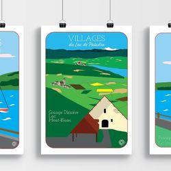 Affiche Villages du Lac Grange Dîmière A3