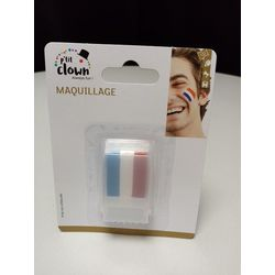 Stick maquillage supporters France bleu blanc rouge