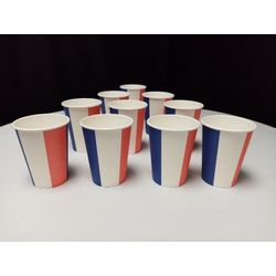 10 Gobelets supporters France - 220 ml