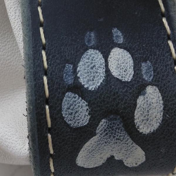 Bourse en cuir couleur blanc motif patte de loup BO148 - image 1